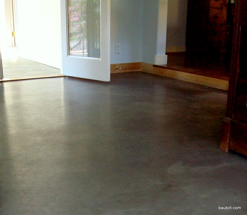 Nice basic concrete floor in a house in Sun Valley, Idaho