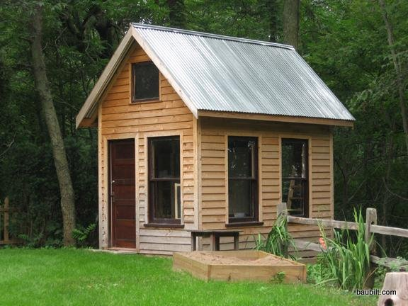 Mini cabins and building permits for Very small garden sheds