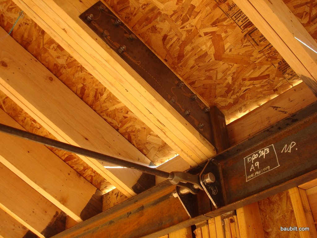 Tie rods for Rafter beam