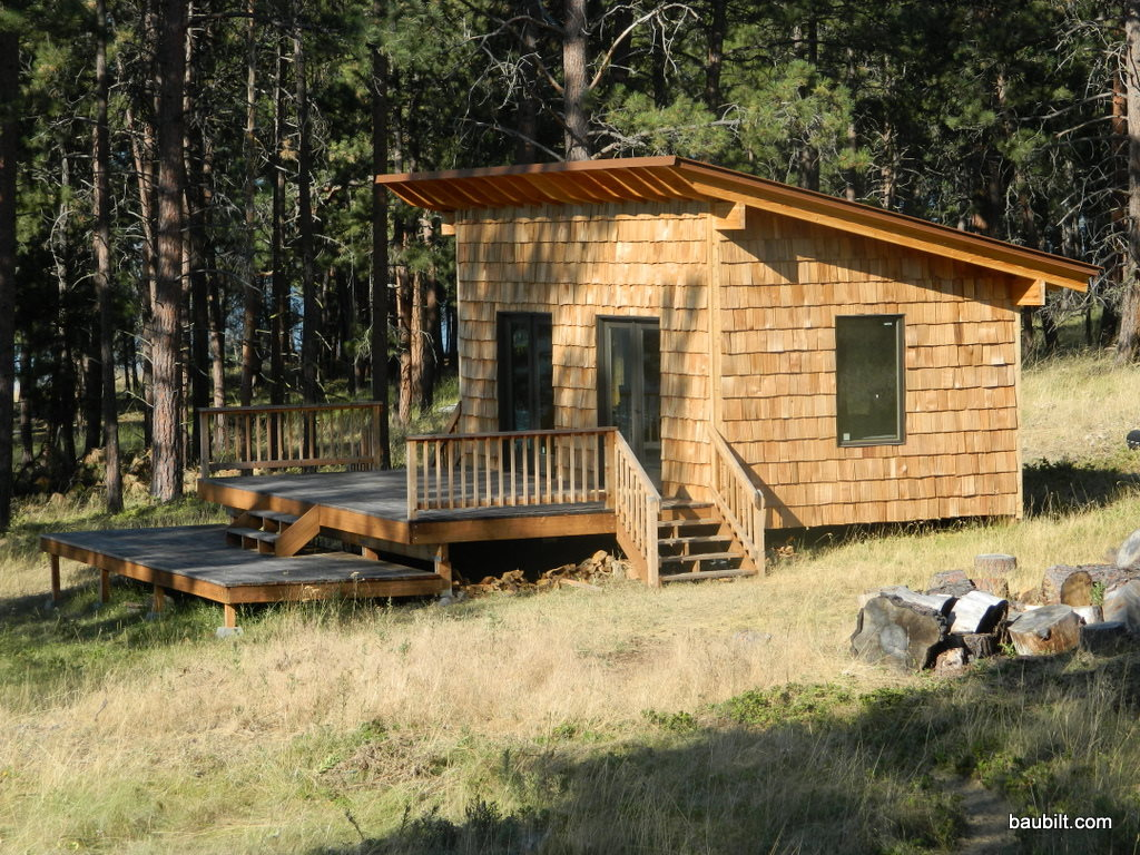 Finished sleeping pavillion for Sleeping cabin plans