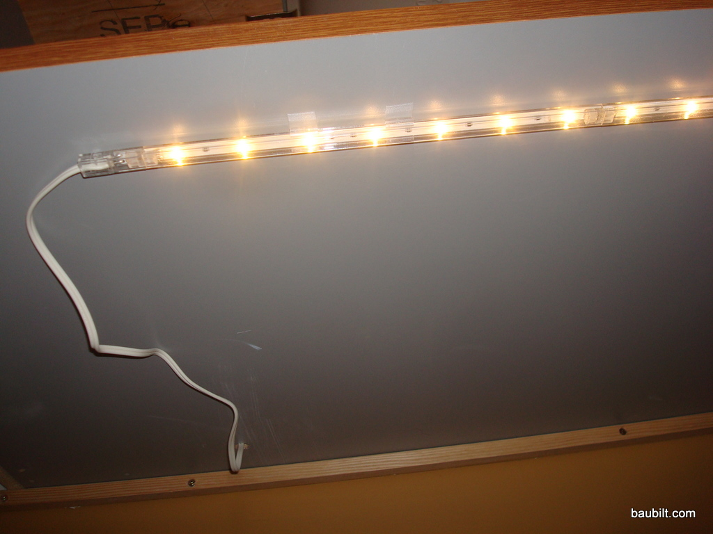 Vanity Light Bulb Strip : Under-Vanity LED Lighting (courtesy of IKEA)